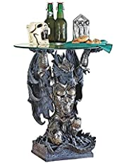 Design Toscano Hastings, The Warrior Dragon Glass-Toppe