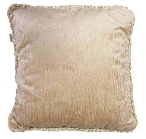 Glenna Jean Victoria Pillow with Cord, Tan (Tan Velvet Cord)