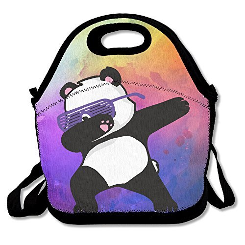 Hip Hop Panda Glasses Lunch Tote Bag Bags Awesome Lunch Handbag Lunchbox Box For School Work - Panda Glass