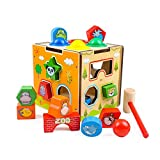 GEDIAO Wooden Learning Hammering & Pounding Toys Animal Shape Color Blocks Cube Toys, Early...
