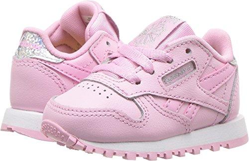 Toddler Pastel Pink Footwear - Reebok Kids Baby Girl's Classic Leather Pastel (Infant/Toddler) Charming Pink/White 4 M US Toddler