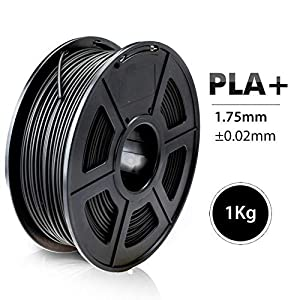 1.75mm PLA Plus Filament 1KG Accuracy Dimension +/-0.02mm Multi-Colors for Choose 3D Printer Filament (PLA Plus Black) 20