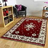 """Choice Homes Velvet Touch Abstract Chenille Carpet - 55""""x80"""", Maroon"""