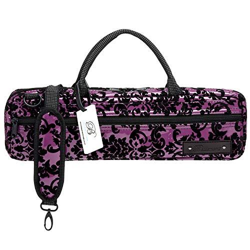 Flute Case Cover - Beaumont B-Foot Flute Bag - Purple Lace