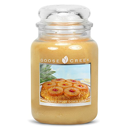 Goose Creek Scented Candles Pineapple Upside Down Cake Large Jar Candle Great Fragrance 24 (Large Cake Candle)