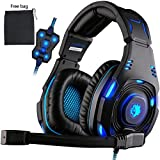 [Upgrade Version of SA-907] Sades Knight Plus 7.1 Surround Sound Wired Gaming Headset with Foldable Noise Cancelling Earmuff
