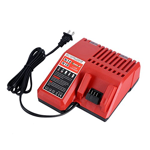 Replacement Lithium-ion Battery Charger Multi Voltage Charger for Milwaukee M18 14.4V-18V 48-11-1850 48-11-1840 48-11-1815 48-11-1828 by Biswaye