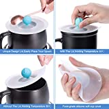 Sumind Mug Warmer Coffee Cup Warmer Beverage Warmer for Office Desk and Home Use, Tea, Water, Cocoa or Milk Cup with Food Grade Silicone Lids