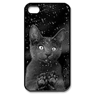 Black cats Customized Durable Hard Plastic Case Cover LUQ284158 For Iphone 4,4S