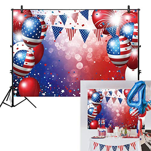 Allenjoy 7x5ft Independence Day Backdrop for Photography American