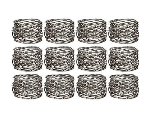 Klikel Mesh Napkin Ring Stainless Steel Set Of 12 ()