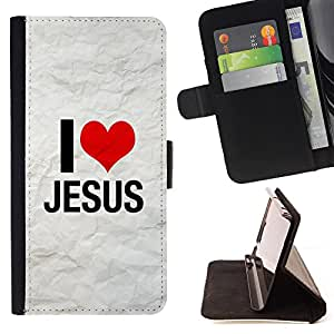 Devil Case- Estilo PU billetera de cuero del soporte del tir¨®n [solapa de cierre] Cubierta FOR Apple iPhone 6 6S 4.7 - My God OMG Jesus Christ Cross