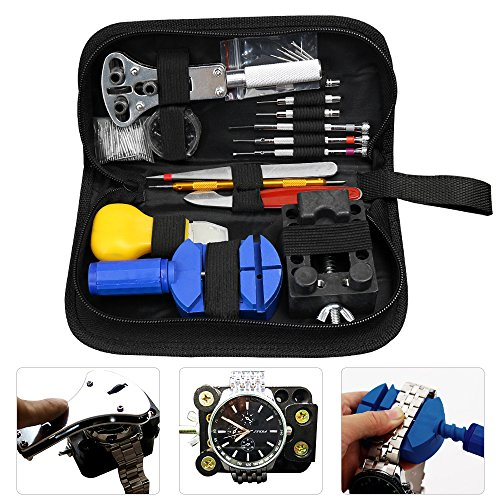 watch-repair-kit-ezykoo-144-pcs-watchmakers-tools-case-opener-adjuster-remover-wrench-strap