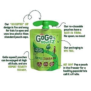 grocery, gourmet food, snack foods, applesauce, fruit cups,  applesauce 12 discount GoGo squeeZ Applesauce, Apple Cinnamon, 3.2 Ounce in USA