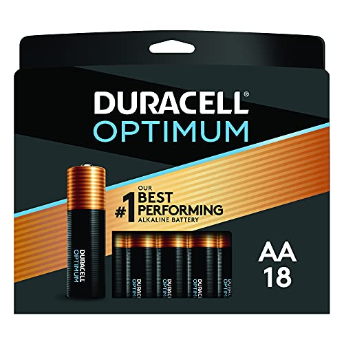 Duracell Optimum AA Batteries | 18 Count Pack | Lasting Power Double A Battery | Resealable Package for Storage | Alkaline AA Battery Ideal for Household and Office Devices
