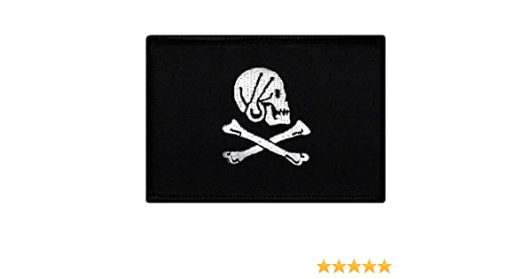 """SKULL Choice 2.5/"""" 3/"""" iron on patches Crossbones Bows Jolly Roger"""