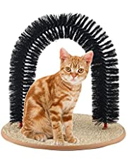 Cat Grooming Massage Brush, Large Arch Self Scratcher Pads Scratching Bed Pet Shedding Tools (Arch)