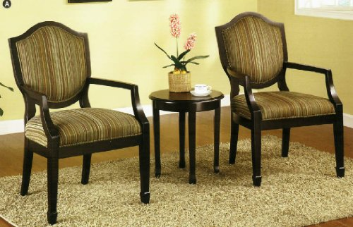 3 Pc. Set of 2 Accent Chairs Table by Furniture of America
