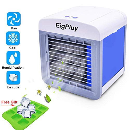 (Alliebe Personal Air Cooler Mini Portable Air Conditioner Fan Desktop Space Cooler Personal USB Table Fan Small Evaporative Cooler Air Humidifier (A-AC1))