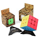 D-FantiX Speed Cube Set, 2x2 3x3 Speed Cube Stickerless Bundle Magic Cube Puzzle Toys Pack of 2 D-FantiX