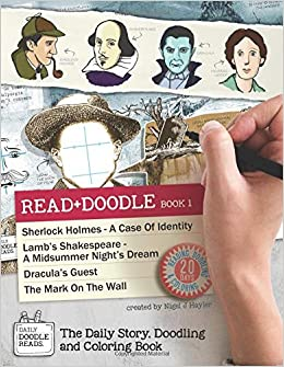 read doodle book 1 sherlock holmes a case of identity lambs shakespeare a midsummer nights dream draculas guest the mark on the wall the doodling and coloring book doodle reads