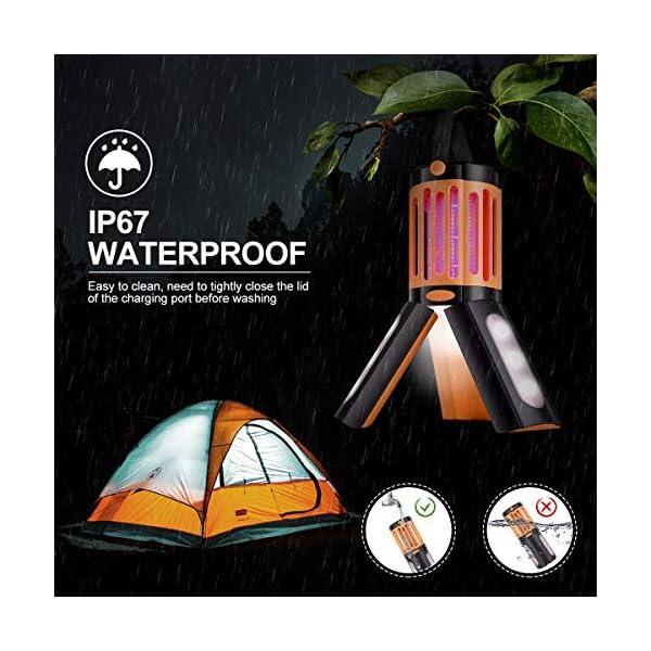 seenlast Lampada Antizanzara Elettrica, 2-in-1 Zanzariera All'aperto Luce UV Campeggio Repellente Trappola Zanzare… 2 spesavip
