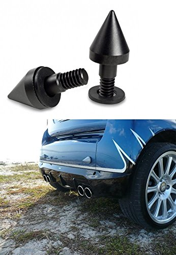 BlueBeach Bumper Guard Protector Protection Spike for Smart Fortwo Coupe Passion Cabrio Electric (Black)