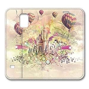 S5 Case, Galaxy S5 Case - Happy Castle Brain114 Samsung Galaxy S5 Premium Leather Case hjbrhga1544