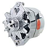 Powermaster Performance 37293-313 Chrome Alternator (12SI 150A 6 Groove Pulley & Cone 1 or 3 Wire)