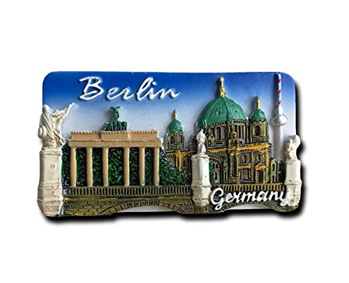 (3D Berlin Germany Refrigerator Magnet Tourist Souvenirs,Resin Craft Fridge Magnet Sticker Home & Kitchen Decoration Collection)