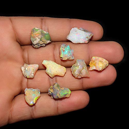 Jewelry Making Gemstones Jaguar Gems New Lot 50cts Natural Rough Ethiopian Opal Stone Fire Play Opal Raw Crystals Supply October Birthstone 50cts Handpicked Assorted Opal Lot Loose Crystals
