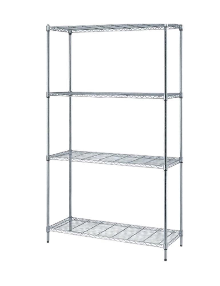 Amazon com: Offex 4 Wire Shelf Snap Fit Design Shelving Unit