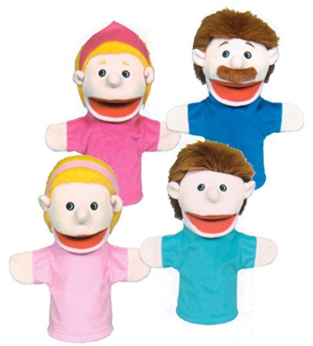Puppet Family Caucasian - Get Ready Kids Caucasian Family Puppets