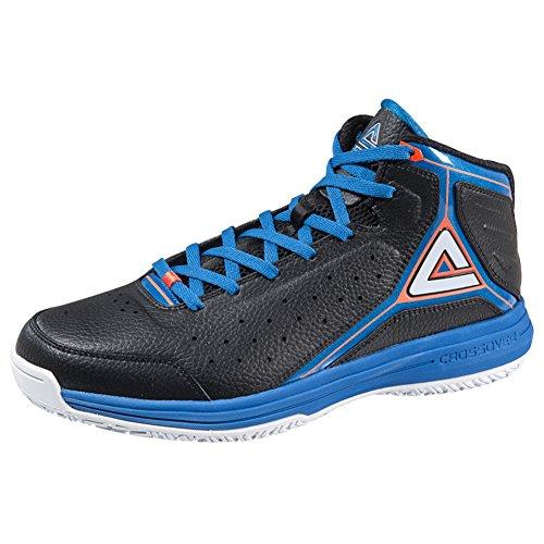 PEAK Men's Classic Professional Basketball Shoes Black/Blue Size US9.5