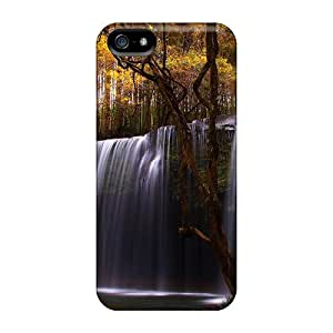 Tpu Case Cover For Iphone 5/5s Strong Protect Case - Waterfall In Forest Design