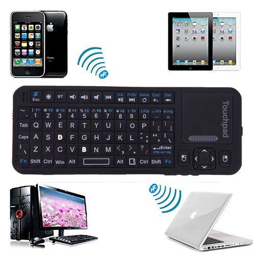 Wireless Bluetooth Keyboard TouchPad Pointer