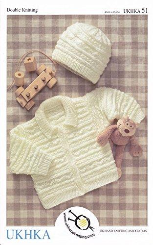 a71971f3b UK Hand Knit Association Baby Jacket  amp  Hat DK Knitting Pattern UKHKA 51