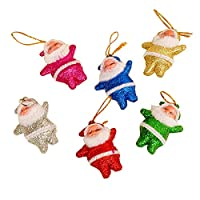 Guang-T Xmas Tree Hanging Decoration Santa Claus Doll Pendant Hanging Ornaments for Christmas Tree Decorations 6pcs