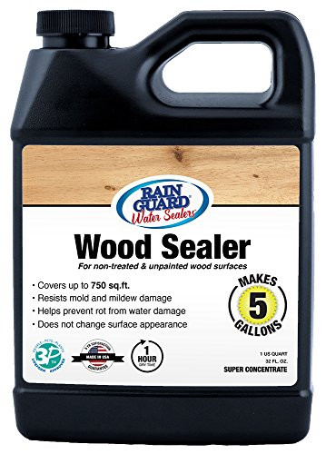 Rainguard SP-8003 32 Oz Concentrate (Makes 5 Gallons) Premium Wood Sealer, Water Repellent Protection for Wood Surfaces