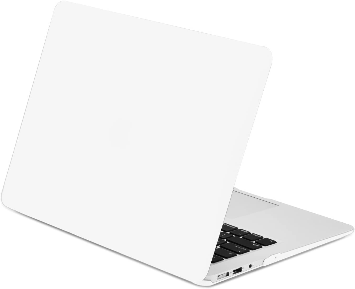 "TOP CASE - Classic Series Rubberized Hard Case Compatible MacBook Air 13"" (A1369 and A1466) (Release 2010-2017) - Satin White"