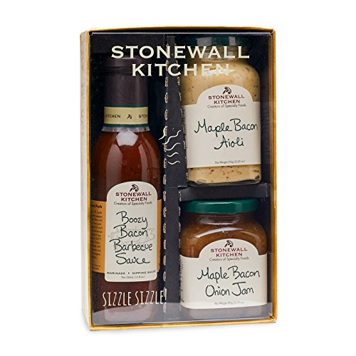 Stonewall Kitchen 3 Piece Bacon Gift Set made in Maine