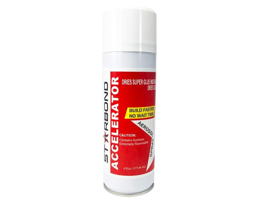 Starbond Instant Set Accelerator (Activator) for CA Super Glue, 6 oz. Aerosol