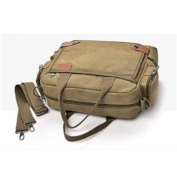 dddd260e10d5 Amazon.com: LBYMYB Men's Messenger Bag Briefcase Canvas Shoulder Bag ...