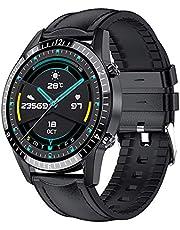 Smart klocka, herr Bluetooth-samtal, musikspelare, hjärtfrekvens, IP67 Vattentät, Fitness Smartwatch för Android Ios Watch