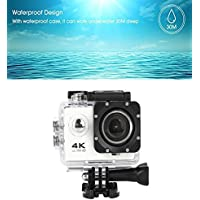 Sandsitore 4K Sport Action Camera 16MP WIFI Waterproof Camera 2inch LCD Screen 170 Ultra Wide-Angle Lens Underwater Camcorder And Full Accessories Kits (White)