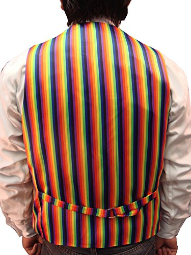 Men`s Rainbow Design Quality Waistcoat & Bowtie Set Weddings/Balls/Parties And For Any Other Events (XXL, Rainbow) by Elegance123 (Image #1)