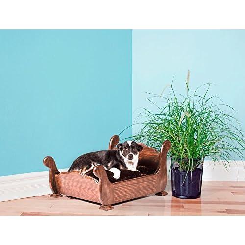 durable modeling Keet Woodbourne Pet Bed, Elegant Brown, Small