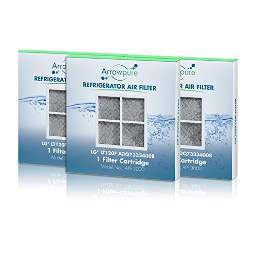 Price comparison product image Arrowpure Refrigerator Air Filter Replacement for LG LT120F, ADQ73334008 Filter, 3 Pack