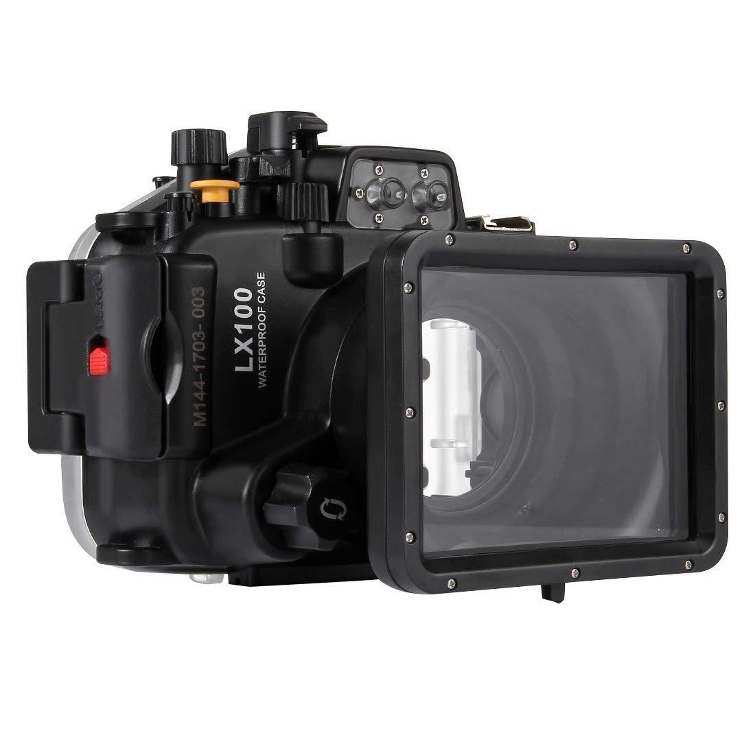 PULUZ 40mパナソニックLUMIX DMC-LX100用水中深度ダイビングケース防水カメラハウジング   B07QQRRLDF