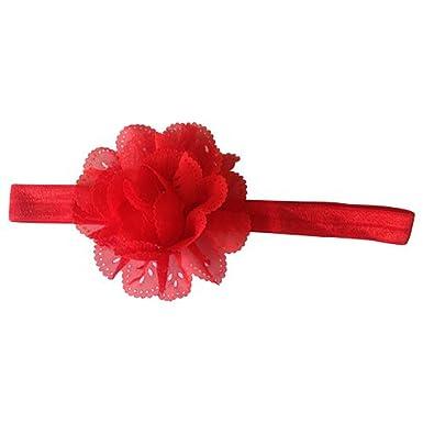 AkinosKIDS Mesh Flower Eyelet Baby Girls Elastic Red Headband Kids Head  Accessories Hairband Princess Hair Band Head Band (Red)  Amazon.in   Clothing   ... 3521138667f